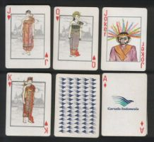 Collectible Air line Advertising playing cards Garuda Airlines